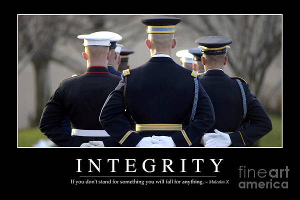Photograph - Integrity Inspirational Quote by Stocktrek Images
