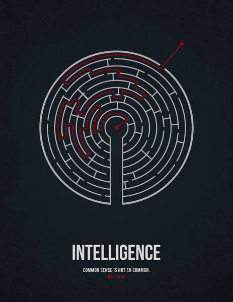 Celebration Wall Art - Drawing - Intelligence by Aged Pixel
