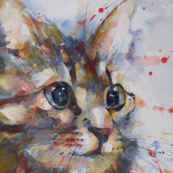 Kitten Wall Art - Painting - Intent by Paul Lovering