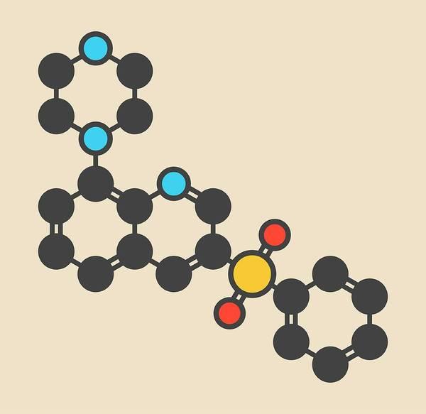 Wall Art - Photograph - Intepirdine Alzheimer's Disease Drug Molecule by Molekuul/science Photo Library