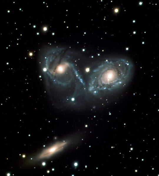 Triplets Photograph - Interacting Galaxies by European Southern Observatory/science Photo Library