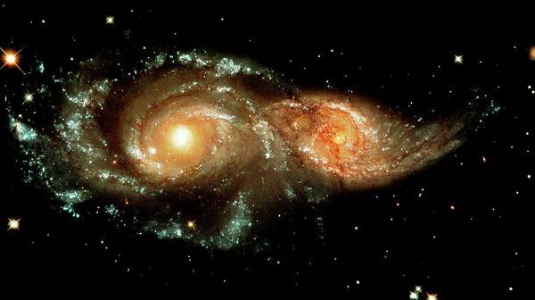 Astrophysics Wall Art - Photograph - Interacting Galaxies by Nasaesastscihubble Heritage Team