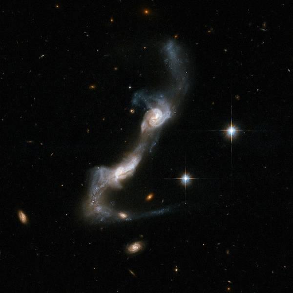 Interacting Galaxies Wall Art - Photograph - Interacting Spiral Galaxy Ugc 8335 by Nasa/esa/stsci/aura/a. Evans (university Of Virginia, Charlottesville; Nrao; Stony Brook University)/science Photo Library