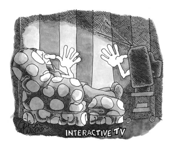 Giving Wall Art - Drawing - Interactive Tv by Gahan Wilson
