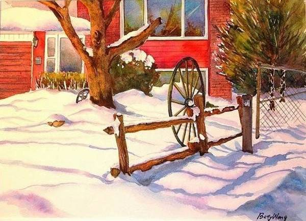 Painting - Interest In The Snow by Betty M M Wong