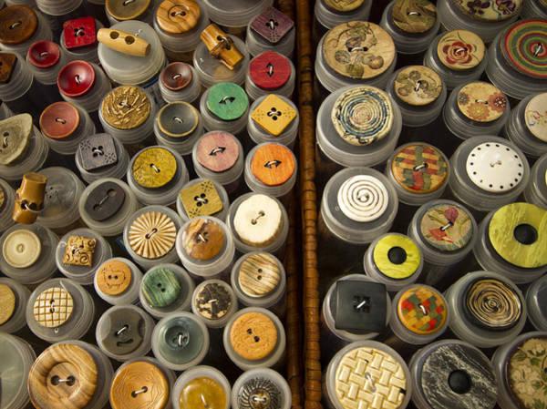 Wall Art - Photograph - Interesting Buttons by Jean Noren