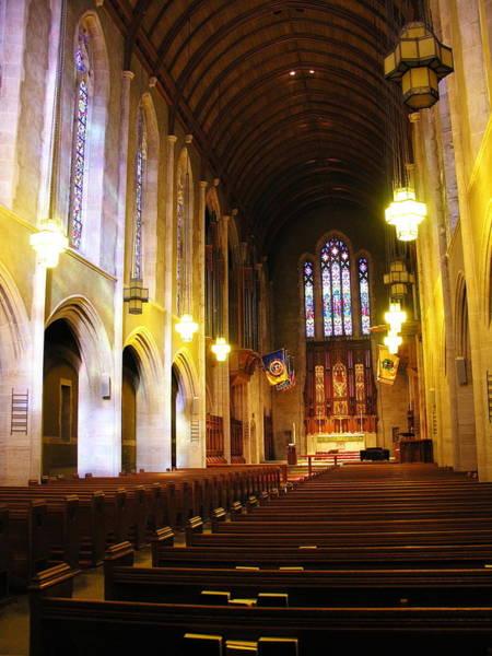Muhlenberg Photograph - Interior - Egner Memorial Chapel - Muhlenberg College by Jacqueline M Lewis