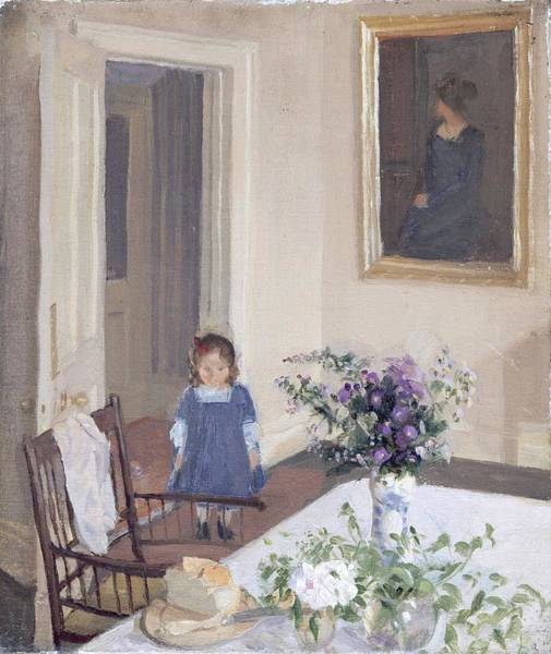 Toddler Painting - Interior, C.1907 by Harold Gilman