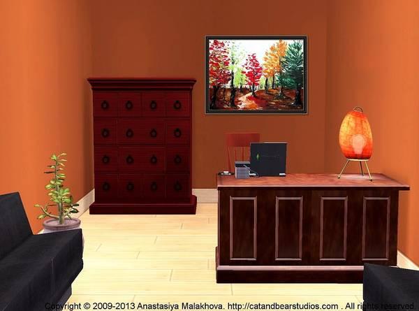 Painting - Interior Design Idea - Autumn by Anastasiya Malakhova