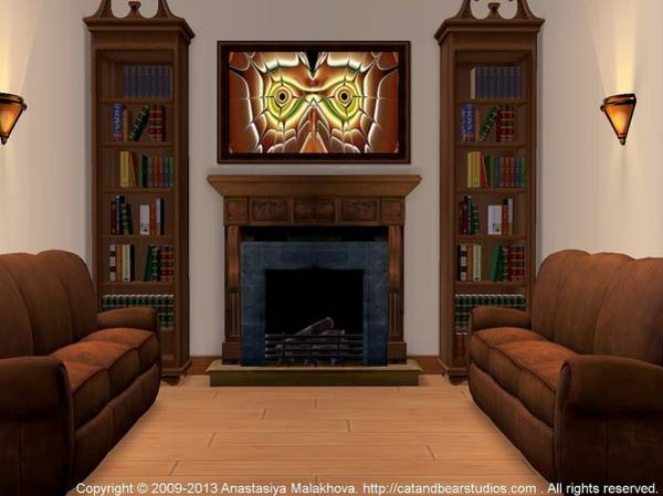 Digital Art - Interior Design Idea - Barn Owl by Anastasiya Malakhova