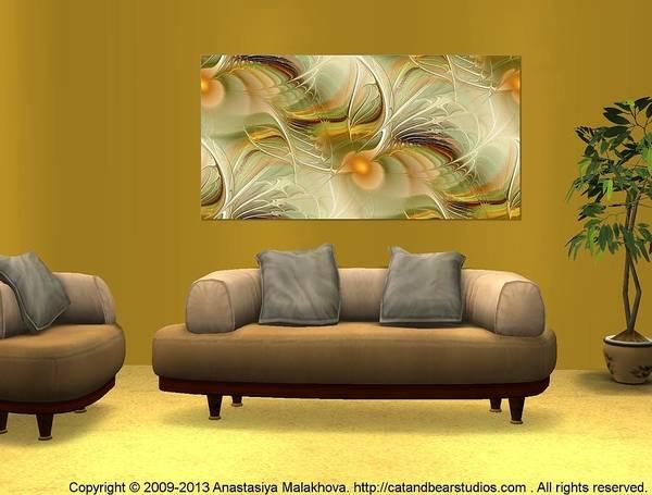 Digital Art - Interior Design Idea - Soft Wings by Anastasiya Malakhova