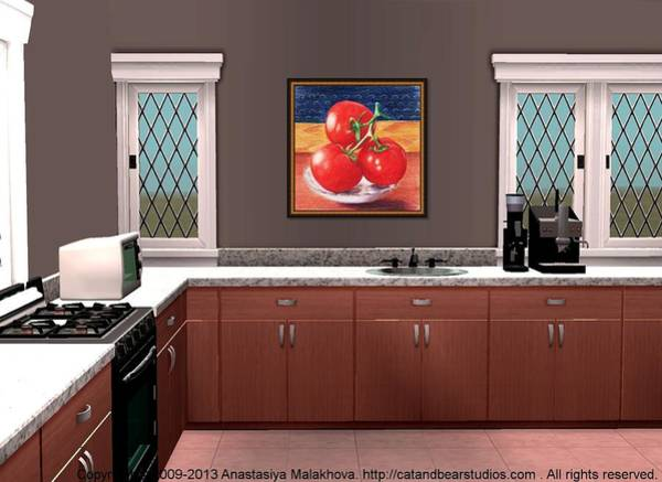 Painting - Interior Design Idea - Tomatoes by Anastasiya Malakhova