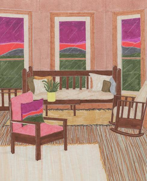 Drawing - Interior Design by Jason Girard