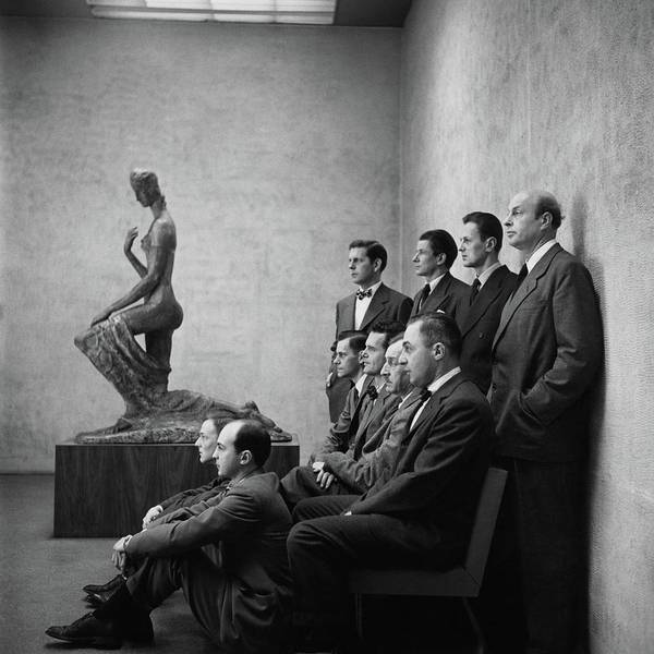 Interior Designers At Moma Art Print by Cecil Beaton