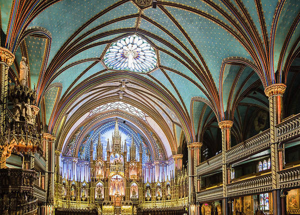 Quebec City Photograph - Interior Notre-dame Basilica by David Madison