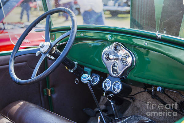 Photograph - Interior Of A 1929 Ford Classic Automobile Car In Color  3057.02 by M K Miller