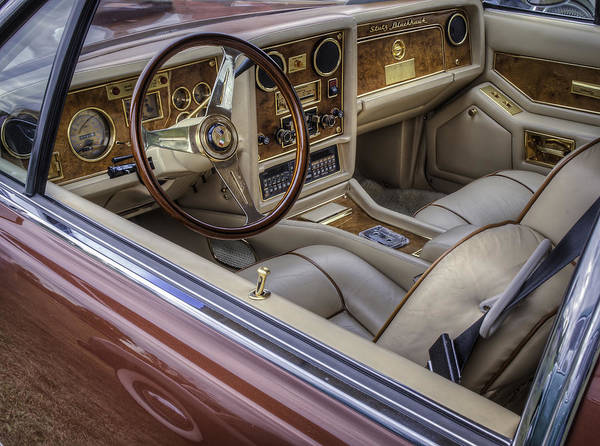 1981 Photograph - Interior Of A Stutz Blackhawk by Thomas Young