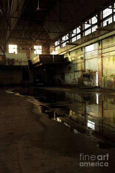 Warehouse Photograph - Interior Of An Abandoned Factory by HD Connelly