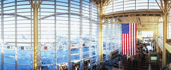 Ronald Reagan Photograph - Interior Of An Airport, Ronald Reagan by Panoramic Images