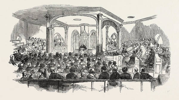 Wall Art - Drawing - Interior Of Crathie Church by English School