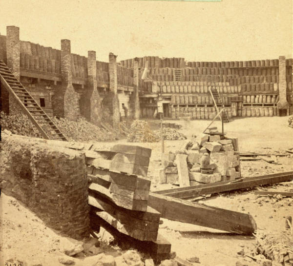 Fort Sumpter Photograph - Interior Of Fort Sumpter I.e. Sumter by Litz Collection