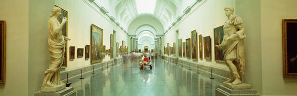 Prado Photograph - Interior Of Prado Museum, Madrid, Spain by Panoramic Images