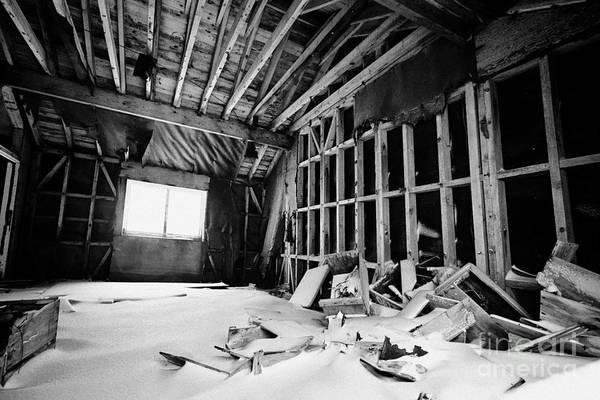 Wall Art - Photograph - interior of ruined fidase hut or hunting lodge whalers bay deception island Antarctica by Joe Fox