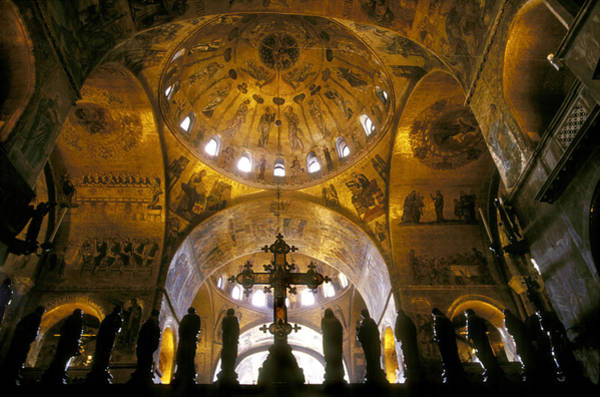 St Mark's Basilica Photograph - Interior Of St. Marks Cathedral by Mark Harmel
