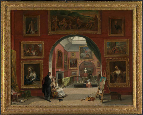 Wall Art - Painting - Interior Of The British Institution Old Master Exhibition by Litz Collection