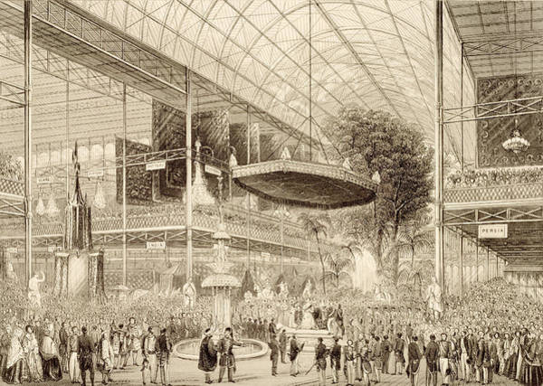 Great Britain Drawing - Interior Of The Great Exhibition, Grand by English School