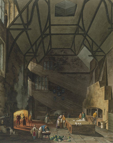 Prepare Drawing - Interior Of The Kitchen, Trinity by William Henry Pyne