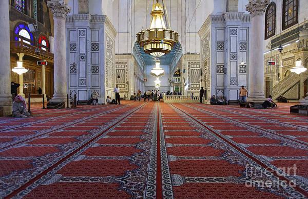 Damascus Photograph - Interior Of The Umayyad Mosque In Damascus by Robert Preston