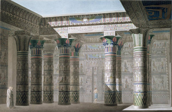 Shadows Drawing - Grand Temple On The Island Of Philae by Antoine Phelippeaux