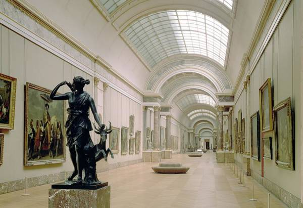 Artemis Photograph - Interior View Of The Grande Galerie, 16th-19th Century Photo by French School