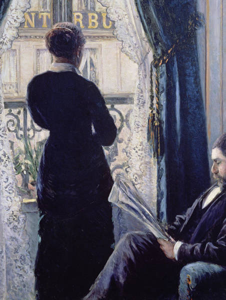 Stand Out Wall Art - Painting - Interior Woman At The Window by Gustave Caillebotte