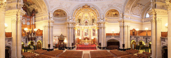 Berlin Cathedral Photograph - Interiors Of A Cathedral, Berlin by Panoramic Images