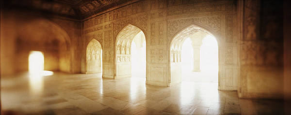 Wall Art - Photograph - Interiors Of A Hall, Agra Fort, Agra, Uttar Pradesh, India by Panoramic Images
