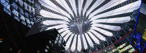 Sony Center Photograph - Interiors Of A Shopping Mall, Sony by Panoramic Images