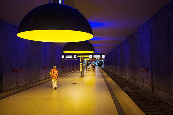Pendant Photograph - Interiors Of An Underground Station by Panoramic Images