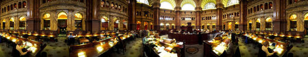Wall Art - Photograph - Interiors Of The Main Reading Room by Panoramic Images