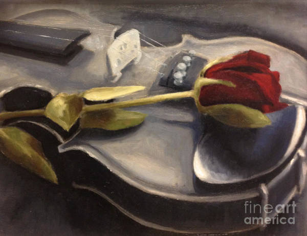 Violin Wall Art - Painting - Interlude by Alison Schmidt Carson