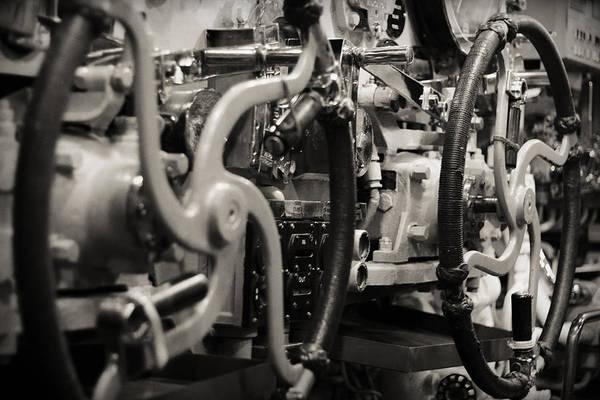 Uss Bowfin Photograph - Internal Mechanics Uss Bowfin by Douglas Barnard