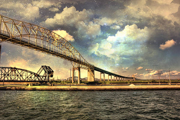 International Bridge Sault Ste Marie Art Print