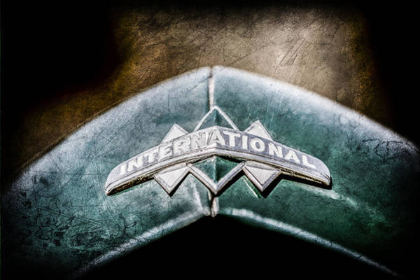 Photograph - International Grille Emblem -0741ac by Jill Reger