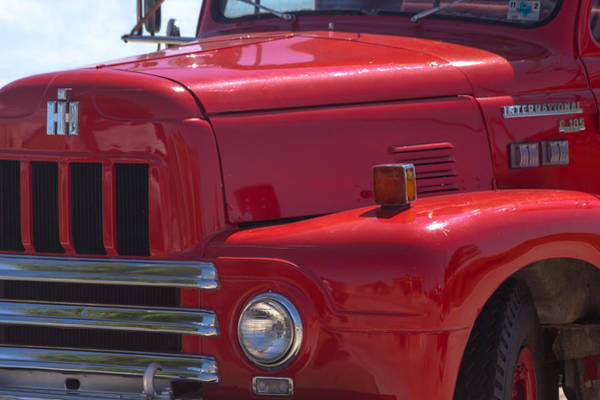 Photograph - International Harvester R-185 Firetruck by Ed Gleichman
