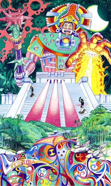 Wall Art - Drawing - International Incident Mexico by Joshua Morton
