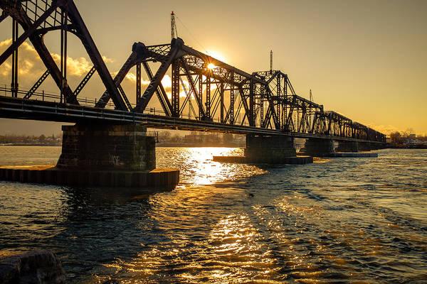 Photograph - International Railway Bridge by Chris Bordeleau