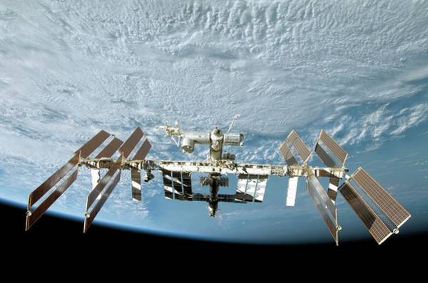 International Space Station Photograph - International Space Station by Nasa/science Photo Library