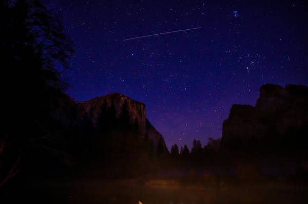 Granite Rock Photograph - International Space Station Over Yosemite National Park by Scott McGuire
