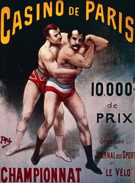 Boxing Drawing - International Wrestling Championship by Pal Jean de Paleologue